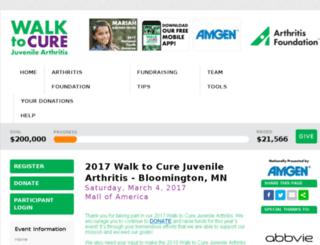 walktocurejuvenilearthritis.kintera.org screenshot