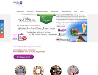 wallisforwellness.com screenshot