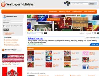 wallpaperholidays.com screenshot