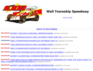 walltownship.southjerseydirtracing.com screenshot
