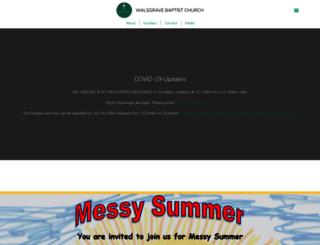 walsgravebaptists.org.uk screenshot