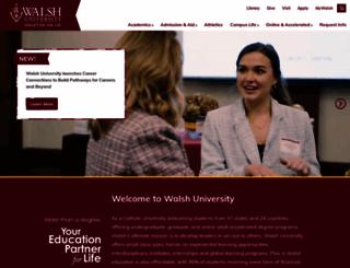 walsh.edu screenshot