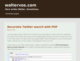 waltervos.com screenshot