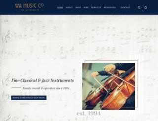 wamusic.com.au screenshot