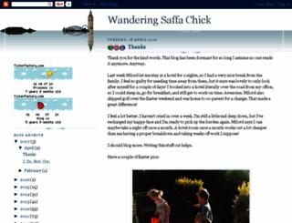 wanderingsaffachick.blogspot.com screenshot