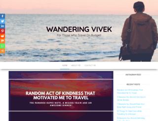 wanderingvivek.com screenshot