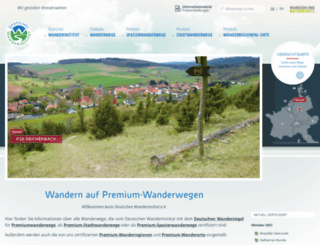 wanderinstitut.de screenshot