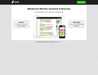 wanderlustwhistler2014.sched.org screenshot