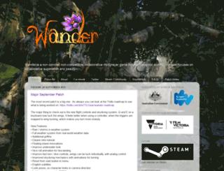 wanderthegame.com screenshot