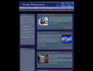 wangproducts.com screenshot