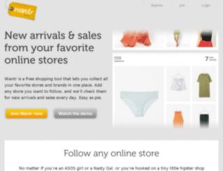 wantr.com screenshot
