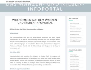 wanzen-und-milben.com screenshot