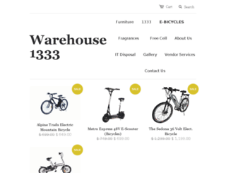 warehouse1333.com screenshot