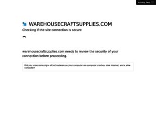 warehousecraftsupplies.com screenshot