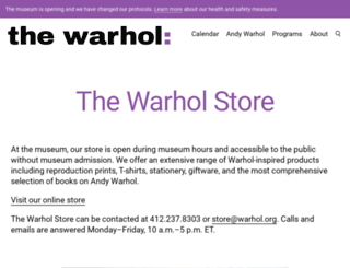 warholstore.com screenshot