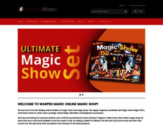 warpedmagic.co.uk screenshot