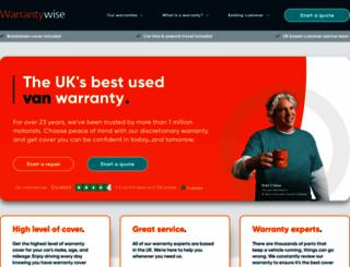 warrantywise.co.uk screenshot