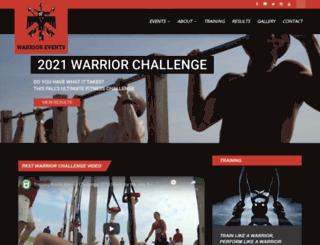 warrior-events.com screenshot