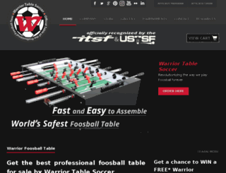 warriortablesoccer.com screenshot