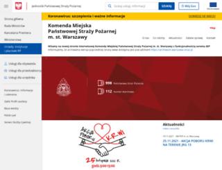 warszawa-straz.pl screenshot