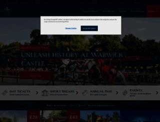 warwick-castle.com screenshot