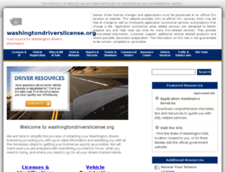washingtondriverslicense.org screenshot