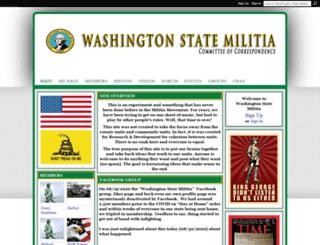 washingtonstatemilitia.ning.com screenshot
