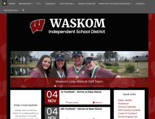waskomisd.net screenshot