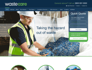 wastecare.co.uk screenshot