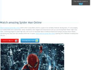 watchamazingspidermanonlinefree.sitew.com screenshot