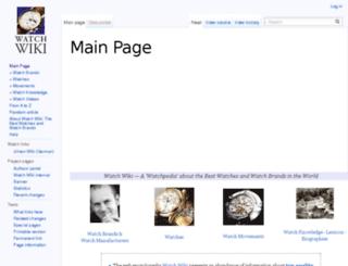 watches-wiki.net screenshot