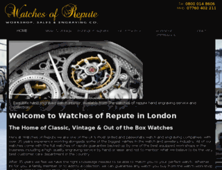 watchesofrepute.co.uk screenshot