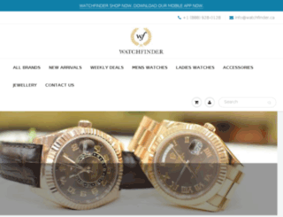 watchfinder.myshopify.com screenshot