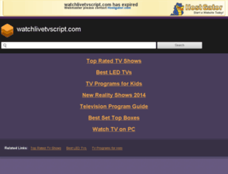 watchlivetvscript.com screenshot