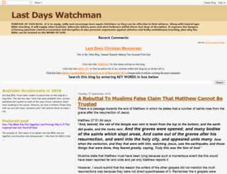 watchmanforjesus.blogspot.com screenshot