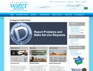 water.cityofdayton.org screenshot