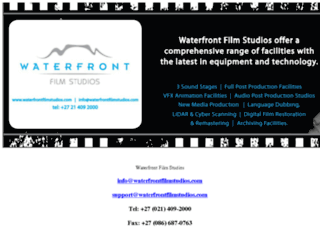 waterfrontstudios.co.za screenshot