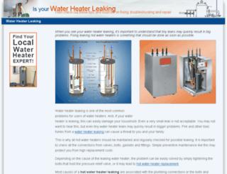 waterheater-leaking.com screenshot