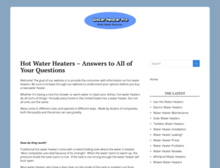 waterheaterpro.org screenshot