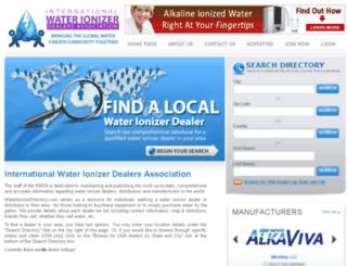 waterionizerdirectory.com screenshot
