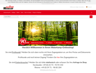waterkamp-onlineshop.de screenshot
