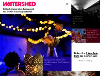watershed.co.uk screenshot