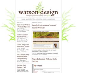 watson-design.com screenshot