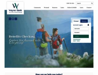 waynebankonline.com screenshot