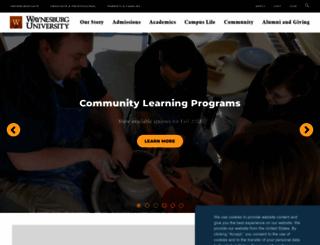 waynesburg.edu screenshot
