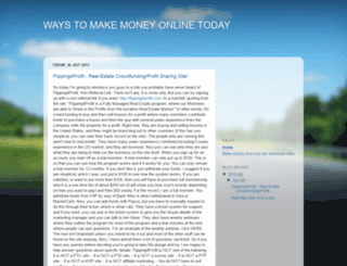 waystomakeoneyonlinetoday.blogspot.com screenshot