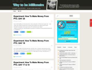 waytobemillionaire.com screenshot