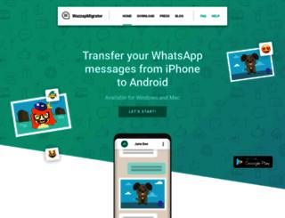 wazzapmigrator.com screenshot