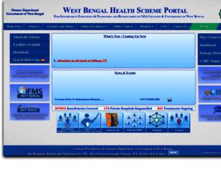 wbhealthscheme.gov.in screenshot