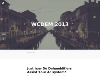 wcdem2013.org screenshot